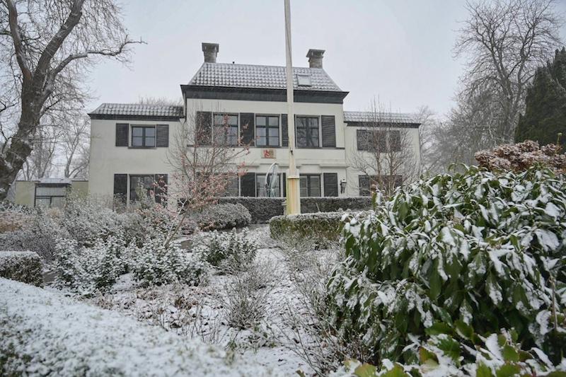Polderhuis in de winter in Anna Paulowna